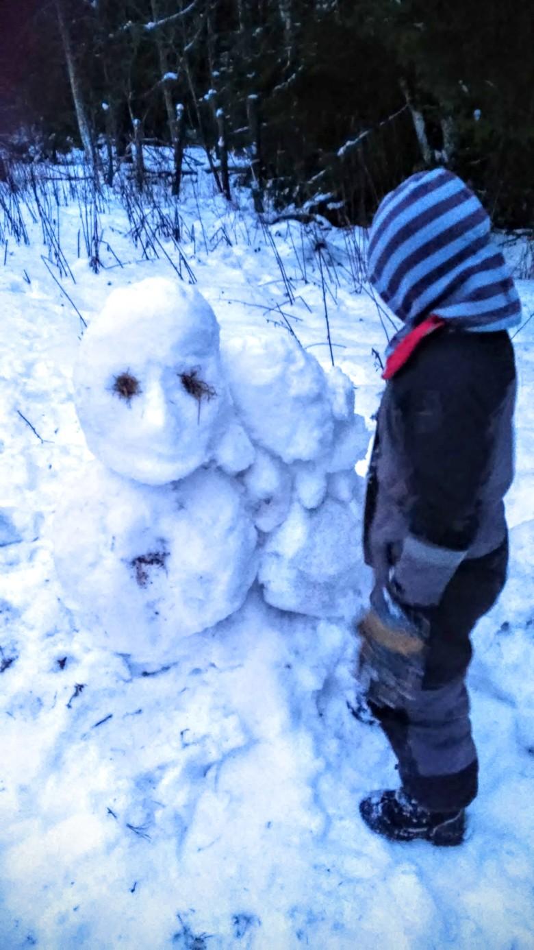 小孩與雪人