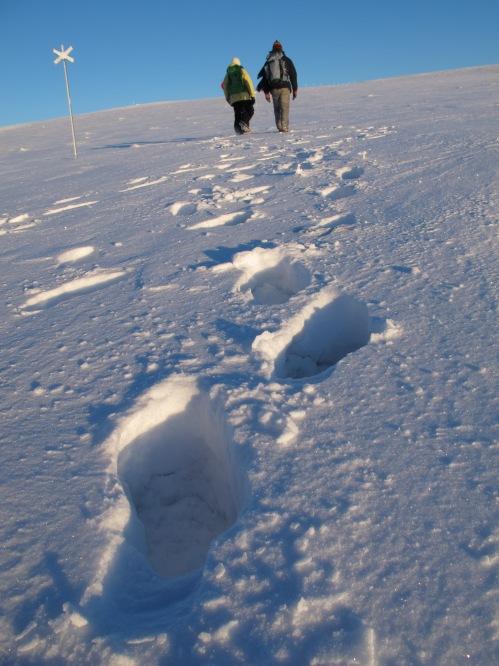 一步一步登上山頂