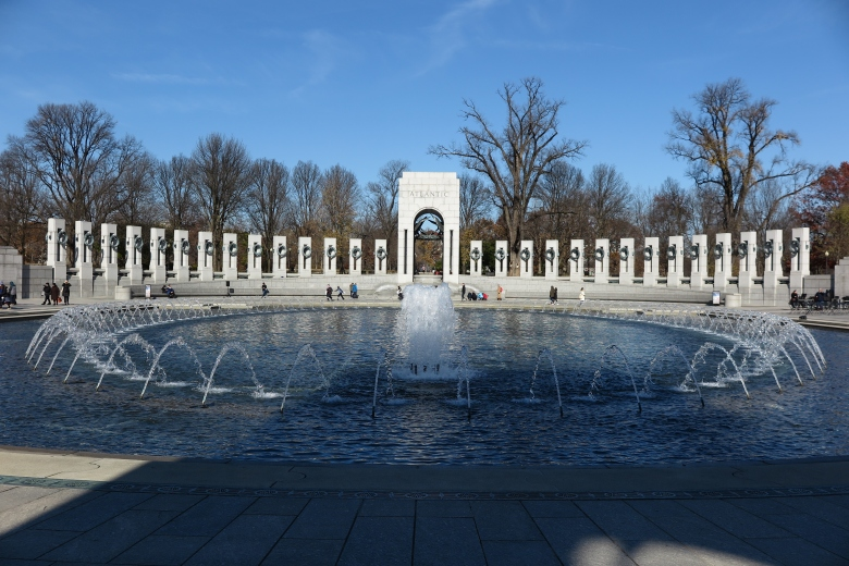 二次大戰紀念園內的噴泉