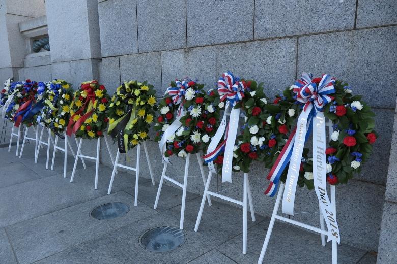 紀念二戰傷亡的花圈